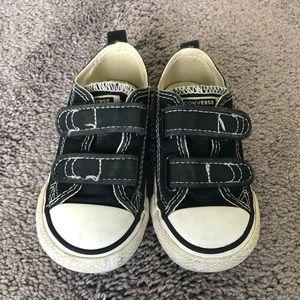 Black Velcro Converse Toddler Size 6